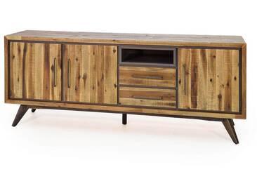 Sideboard Tati 200cm Akazie Massiv Braun Vintage