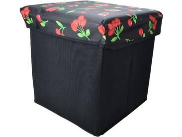 Cute Retro Hocker Cherry 50s Kirschen Stoffbox / Kiste Rockabilly