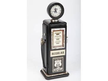 point-home Design-Schrank, Retro Zapfsäule mit Uhr - schwarz