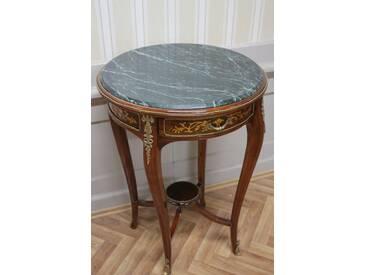Barock Beistell - Tisch antik Stil MkTa0016 Marmor dunkel grün