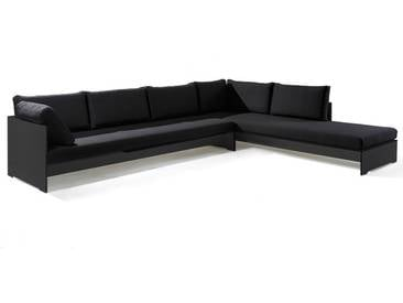 Conmoto Riva Lounge - Kombination 1 / A anthrazit - Sitzgarnitur - 320 cm x 240 cm mit Chaiselongue - anthrazit