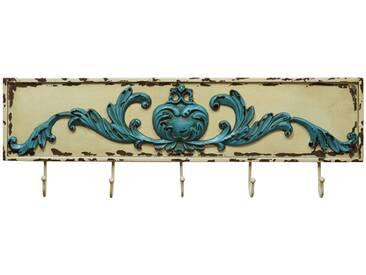 Landhaus Stil Wand Garderobe Kleider Haken Holz weiss blau Wohn Zimmer Dekoration BHP B990833