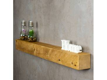 levandeo Wandregal Holz Massiv 100x10cm Eiche Farbig Wandboard Regal Vintage