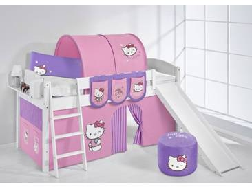 Spielbett IDA Hello Kitty Lila - Systembett Lilokids mit Rutsche - Weiß -