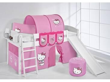 Spielbett IDA Hello Kitty Rosa - Systembett Lilokids mit Rutsche - Weiß -