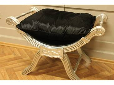 Barock Bankett Scheren Stuhl Antik Stil LouisXV Hocker AlCh0055SiSw