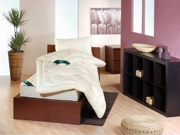 f.a.n. Derby - 155x220 cm, Vierjahreszeiten Bettdecke, Wollsiegel Qualität, extra groß