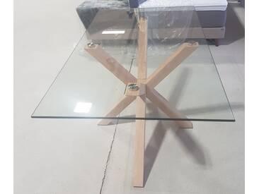 Fredriks Esstisch Zuccarello V Glas Stahl - Eiche Sonoma Dekor Top B-Ware