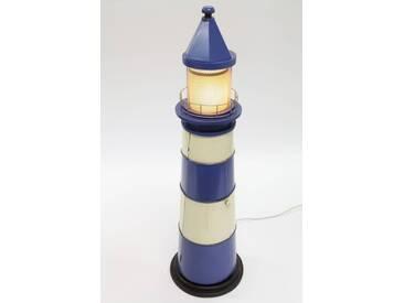 point-home CD-Schrank Leuchtturm im Retrolook blau 125cm