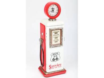 point-home Design-Schrank, Retro Zapfsäule mit Uhr