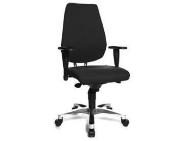 TopsTar Drehstuhl schwarz Bürodrehstuhl, Sitz 47x48x42-55cm, Lehnenh. 58cm, Synchronmech.,
