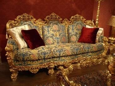 Barock Sofa 3er 3Sitzer aus Salon Antik Stil Vp0893