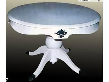 Barock Tisch weiß rund Rokoko LouisXV MoCoC0477