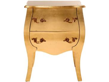Barocke Kommode Romantico Gold Leaf - Gold