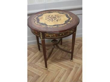 Barock Beistell - Tisch antik Stil intarsiert MkTa0101E