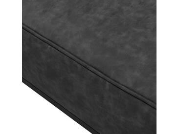 [en.casa]® Sessel schwarz - für Wohnlandschaft - bestehend aus Gestell und bequemen Polsterkissen