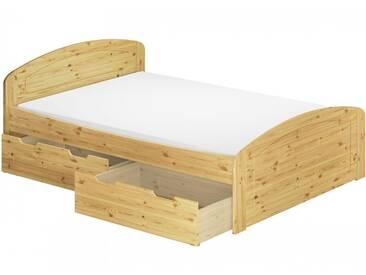 Funktionsbett Doppelbett Bettkasten Federholzrahmen Matratze 160x200 Seniorenbett 60.50-16 M FS