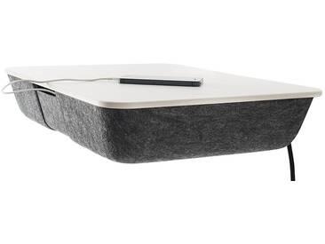 Conmoto Pad Panel - Wandkonsole - grauer Formfleece - Platte CCL weiss - ohne Ladefunktion