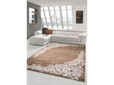 Moderner Teppich Designer Teppich Orientteppich mit Glitzergarn Wohnzimmer Teppich mit Floral Muster