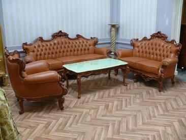 Barock Salon Sofa 3er 2er Sessel Tisch Antik Stil Vp0800