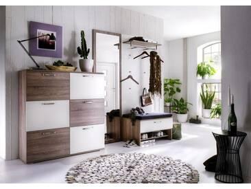 Roubaix Garderobe in Dekor-Farben Holz-Matt - weiss