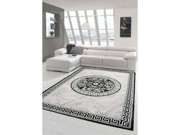 Moderner Teppich Designer Teppich Orientteppich mit Glitzergarn Wohnzimmer Teppich mit Bordüre und K