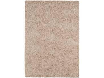 benuta ESSENTIALS Hochflor Shaggy Teppich Swirls Taupe 160x230 cm - Langflor Teppich für Wohnzimmer
