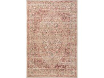 benuta TRENDS Flachgewebeteppich Frencie Rosa 240x340 cm - Vintage Teppich im Used-Look