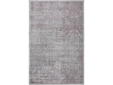 benuta TRENDS Flachgewebeteppich Frencie Grau 160x235 cm - Vintage Teppich im Used-Look