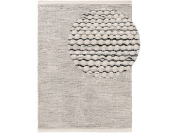 benuta NATURALS Wollteppich Rocco Beige/Schwarz 300x400 cm - Naturfaserteppich aus Wolle