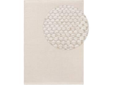 benuta NATURALS Wollteppich Rocco Weiß 140x200 cm - Naturfaserteppich aus Wolle
