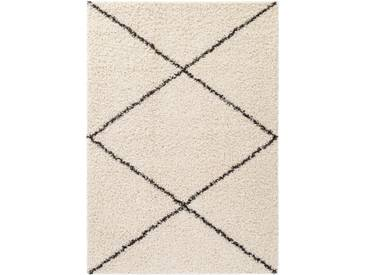 benuta ESSENTIALS Hochflor Shaggyteppich Beni Cream 240x340 cm - Langflor Teppich für Wohnzimmer