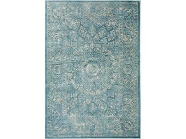 benuta CLASSIC Teppich  Velvet Blau 160x230 cm - Vintage Teppich im Used-Look