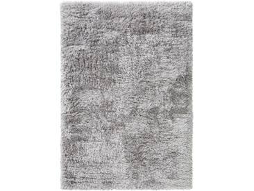 benuta ESSENTIALS Hochflor Shaggy Teppich Lea Grau 140x200 cm - Langflor Teppich für Wohnzimmer