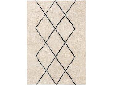 benuta NATURALS Wollteppich Berber Cream 160x230 cm