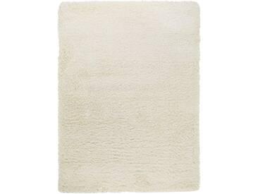 benuta ESSENTIALS Hochflor Shaggy Teppich Sophie Weiß 200x290 cm - Langflor Teppich für Wohnzimmer