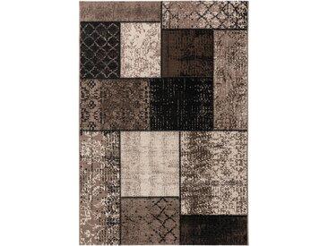 benuta CLASSIC Teppich Antique Grau 140x200 cm - Vintage Teppich im Used-Look