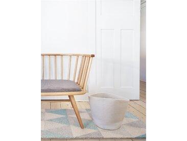 benuta Kurzflor Teppich Pastel Geomet Türkis 160x230 cm - Moderner Teppich für Wohnzimmer