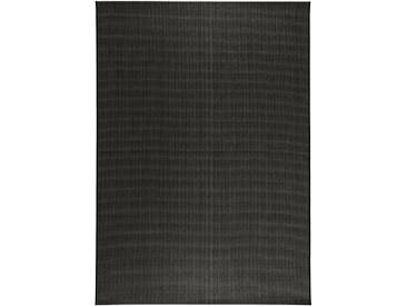 benuta PLUS In- & Outdoor Teppich Metro Sisal Optik Schwarz 240x340 cm - Outdoor-Teppich für Balkon & Garten