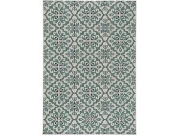benuta PLUS In- & Outdoor Teppich Capri Türkis 200x290 cm - Outdoor-Teppich für Balkon & Garten