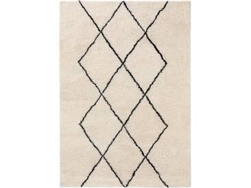 benuta NATURALS Wollteppich Berber Cream 120x170 cm