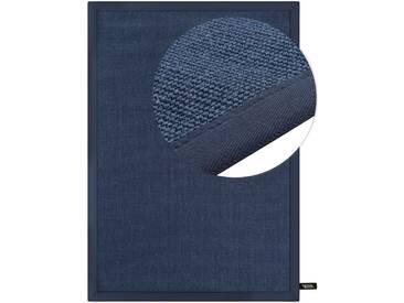 benuta NATURALS Kurzflor Teppich Sisal Dunkelblau 80x150 cm - Moderner Teppich für Wohnzimmer