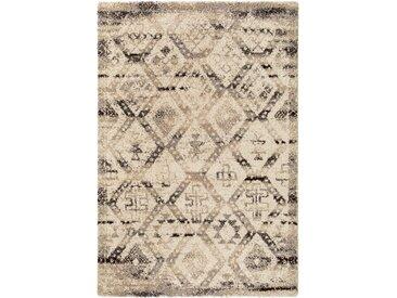 benuta TRENDS Hochflorteppich Tika Grau 133x190 cm - Berber Teppich