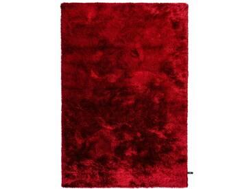 benuta ESSENTIALS Hochflor Shaggy Teppich Whisper Rot 240x340 cm - Langflor Teppich für Wohnzimmer