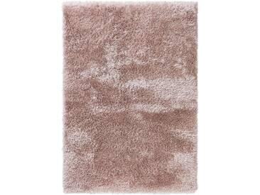 benuta ESSENTIALS Hochflor Shaggy Teppich Lea Rosa 140x200 cm - Langflor Teppich für Wohnzimmer
