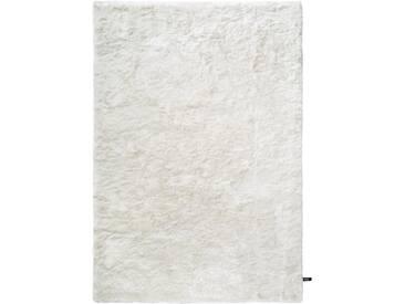 Hochflor Shaggy Teppich Whisper Weiß 80x150 cm - Bettvorleger für Schlafzimmer