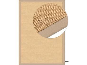 benuta NATURALS Kurzflor Teppich Sisal Beige 300x400 cm - Moderner Teppich für Wohnzimmer