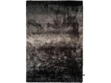 benuta ESSENTIALS Hochflor Shaggyteppich Whisper Anthrazit/Grau 160x230 cm - Langflor Teppich für Wohnzimmer