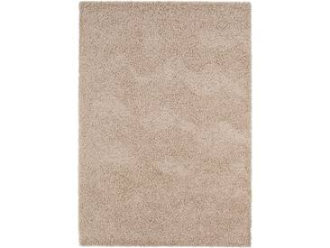 benuta ESSENTIALS Hochflor Shaggy Teppich Swirls Taupe 300x400 cm - Langflor Teppich für Wohnzimmer