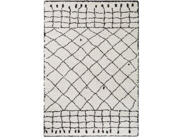 benuta TRENDS Hochflorteppich Gobi Cream 160x230 cm - Berber Teppich